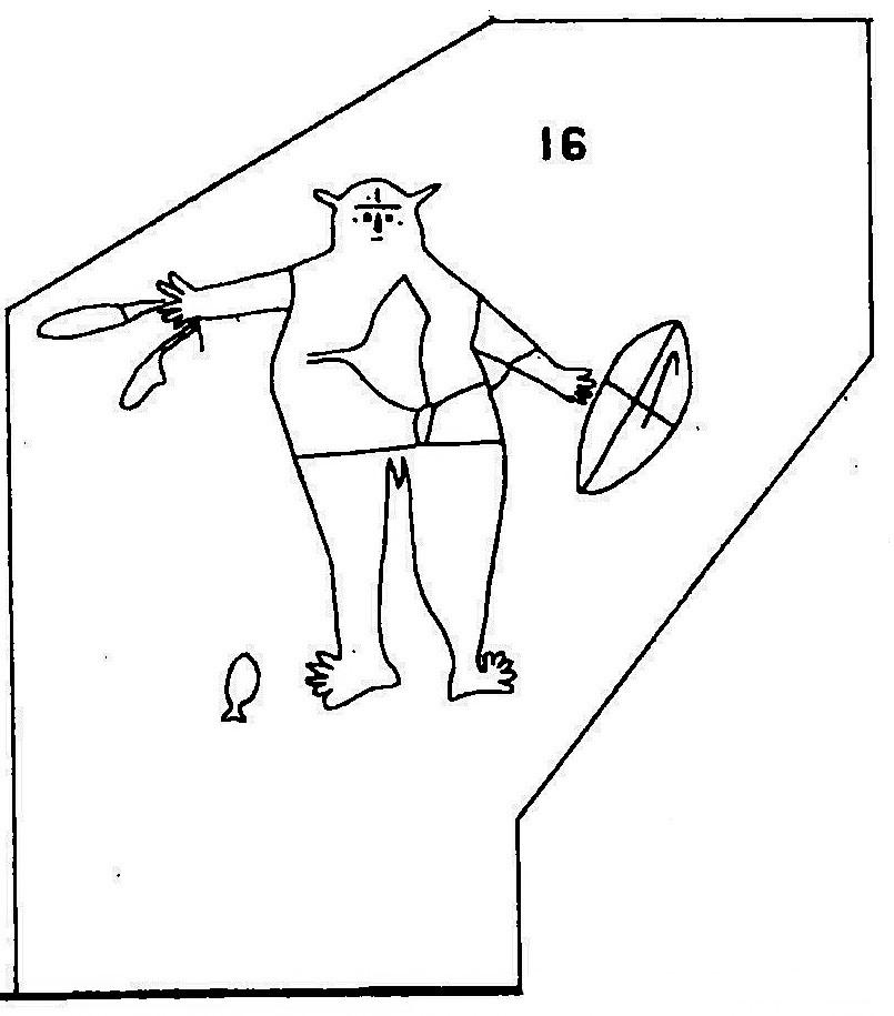 Engraving PLATE XII Fig16 Smiths Creek Baiame