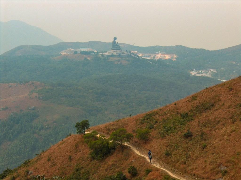 Big Buddha at Ngong Ping from Lantau Trail