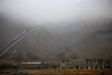 Coal mine in the abandoned village of Pyramiden