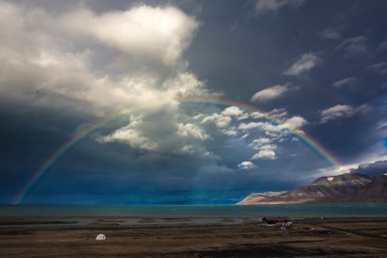 Rainbow seen from Longyearben airport