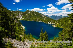 First view of Snow Lake