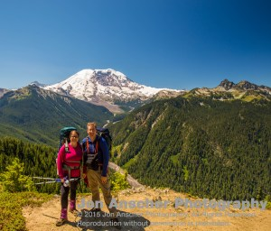 Amy and I at a view point below Grand Park and above Firecreek