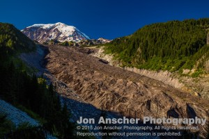 Carbon Glacier in the early morning light