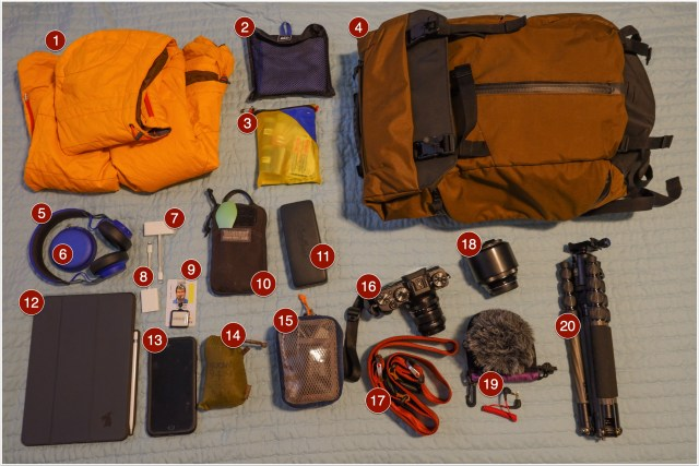 Annotated picture of my daily carry gear