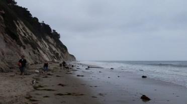 Beach at high tide