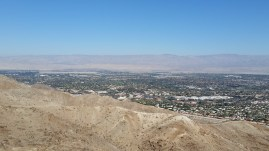 View of Palm Desert. If you squint, you can see tiny hikers on the ridge