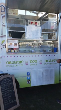 One of the food trucks sold all sorts of vegan ice cream. Yum.