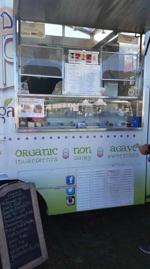 One of the food trucks sold all sorts of vegan ice cream. Yum.