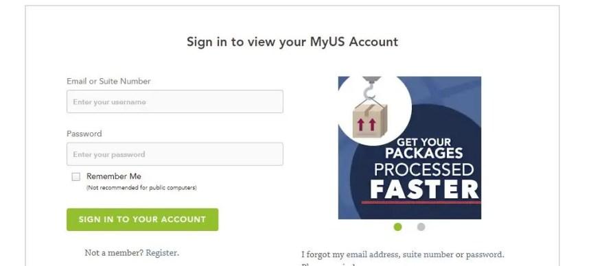 MyUSにログインする