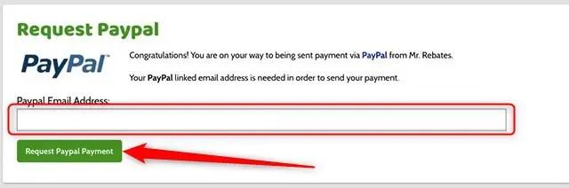 PayPalのアドレスを入力