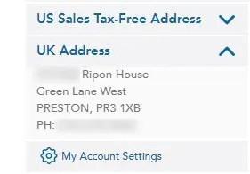 あなた専用のイギリスの住所