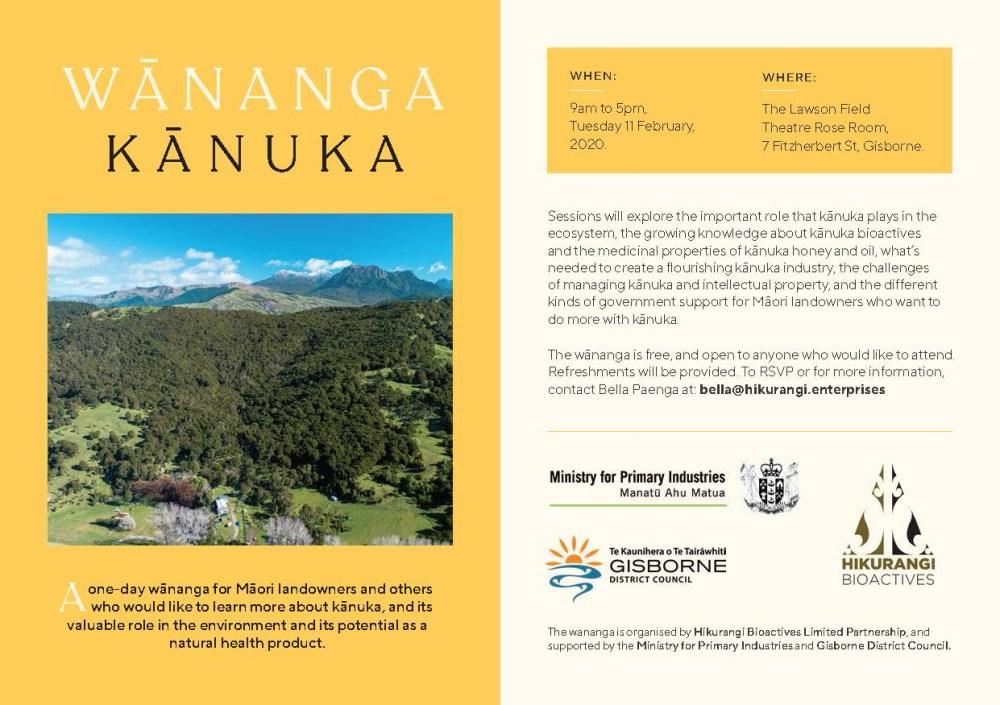 Kānuka Wānanga Flyer