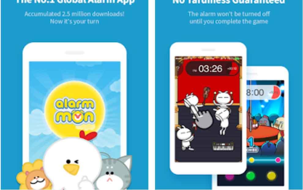 Android için çalar saat uygulaması AlarmMon apk indir