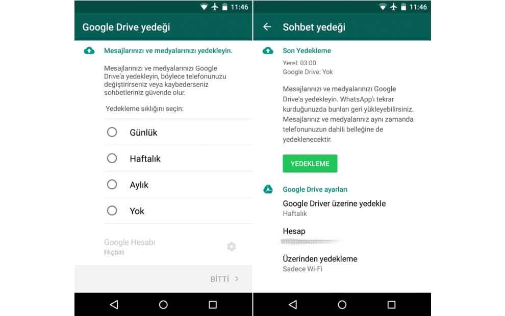 Android WhatsApp sohbeti manuel yedekleme nasıl yapılır