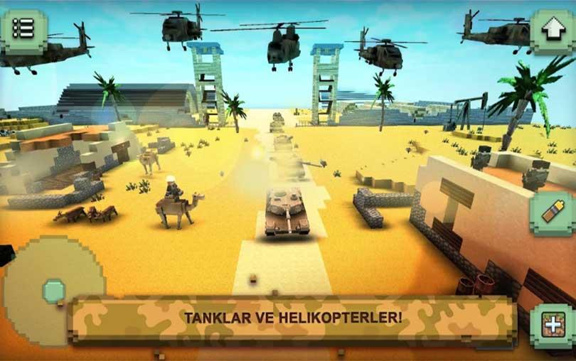 Call of Craft - Tankların Bloklu Savaşı Android tank oyunu indir