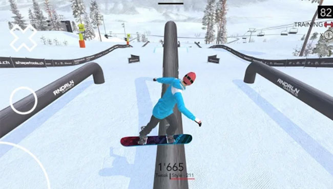 Android Just Snowboarding Freestyle Snowboard Action oyun apk indir