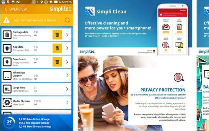 Simpliclean Mobile ile Android Telefon Hafızası Temizleme programı