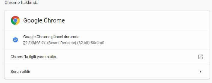 Google Chrome Güncelleme Nasıl Yapılır ? (Windows)