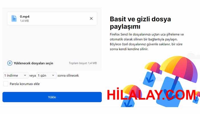 Mozilla Ücretsiz Şifreli Dosya Paylaşım Hizmeti