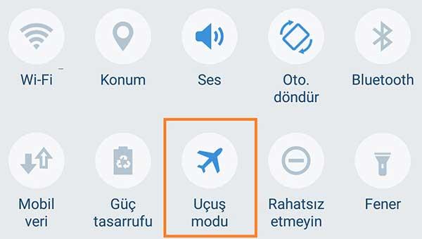 Android Sim Kart Yok Hatası Samsung Sim Kartı Algılanmadı uçak modu