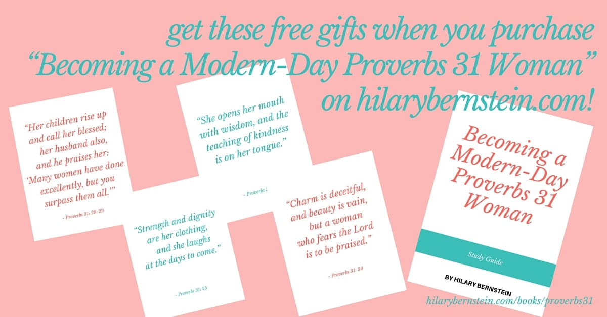 "Get inspired by ""Becoming a Modern-Day Proverbs 31 Woman"" ... and get these free gifts!"