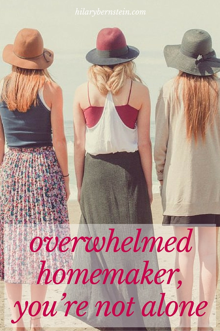 Ever feel like an overwhelmed homemaker? (Maybe the bigger question is … ever not?) I want to encourage you that you're not alone …