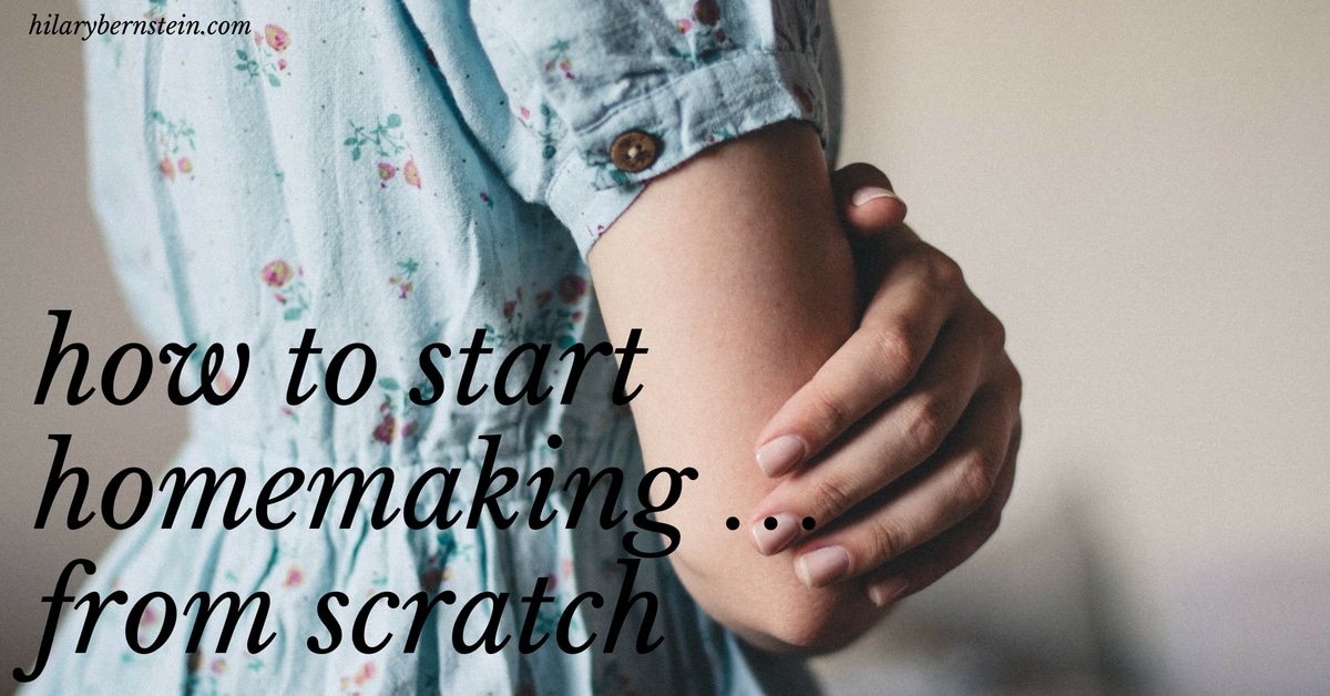 Starting homemaking from scratch can seem intimidating and overwhelming. Here are my starter tips for how beginners can start homemaking!
