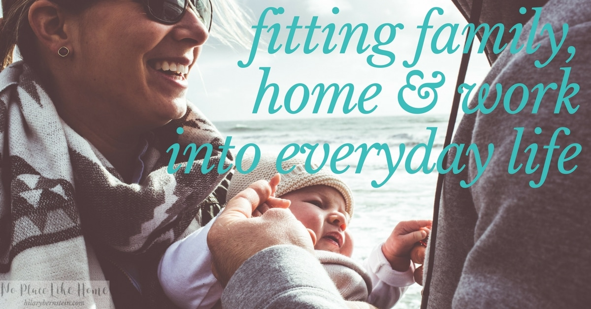 Let's face it. It's not always easy to fit in family, home and work into everyday life.