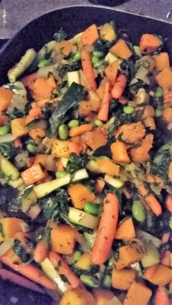 Balsamic Vegetables and Rice #HilaryHerbivore