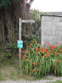A signpost to The Beacon in St Agnes