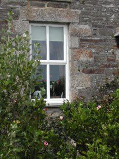 A farmhouse window