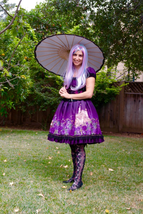 Here I am in authentic Gothic Lolita attire.