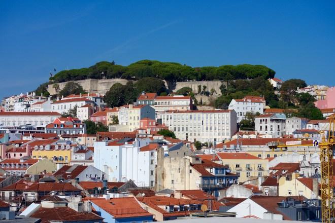 View of the Castelo de Sao Jorge