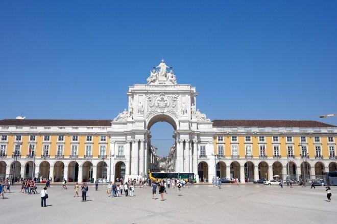 View of the Arch from the Praça do Comércio