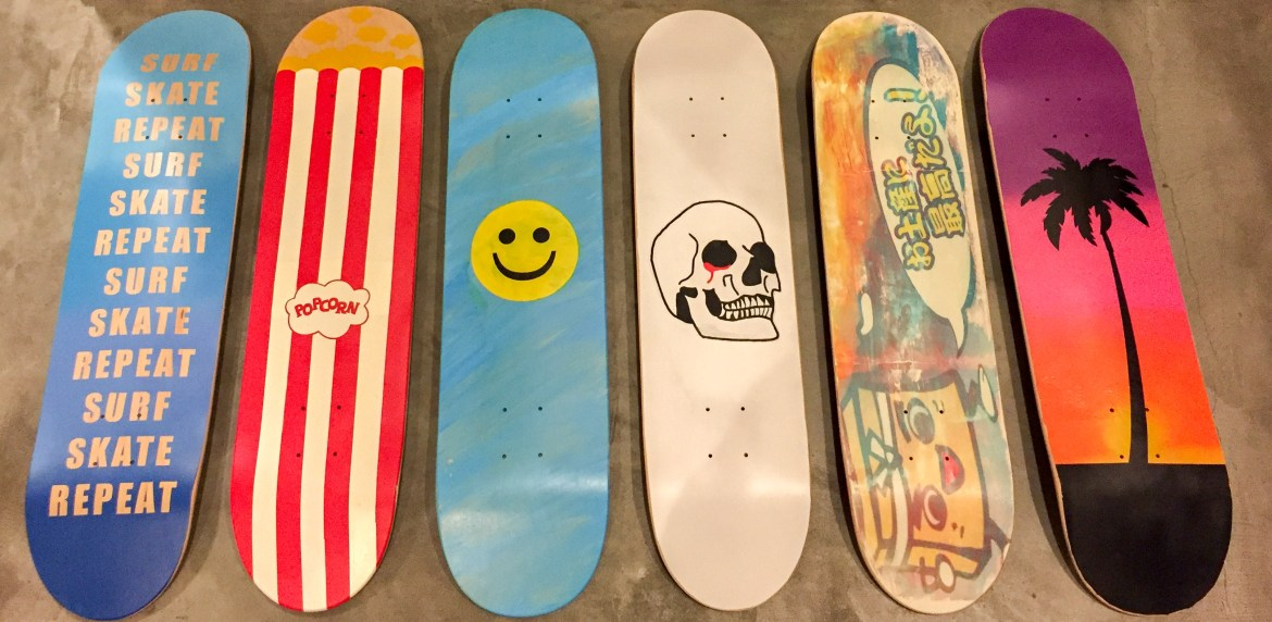 DIY Skateboard Decks Los Angeles California