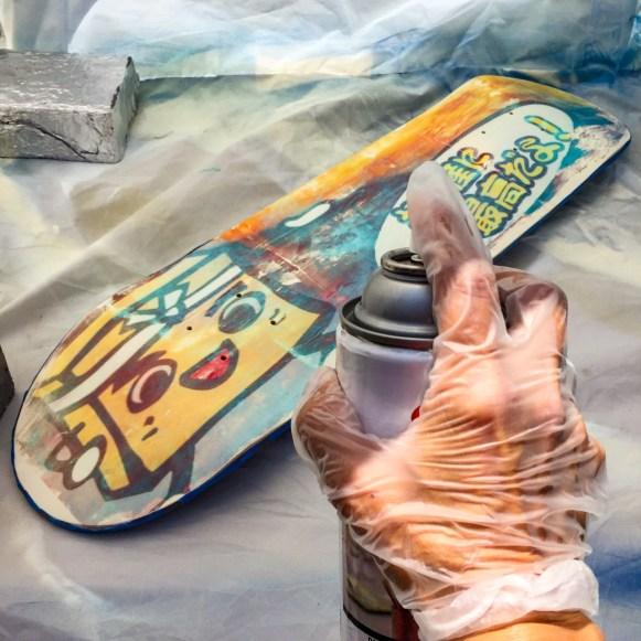 DIY Skateboard Deck Los Angeles California