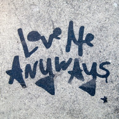 Street Art Sidewalk Sayings Los Angeles California