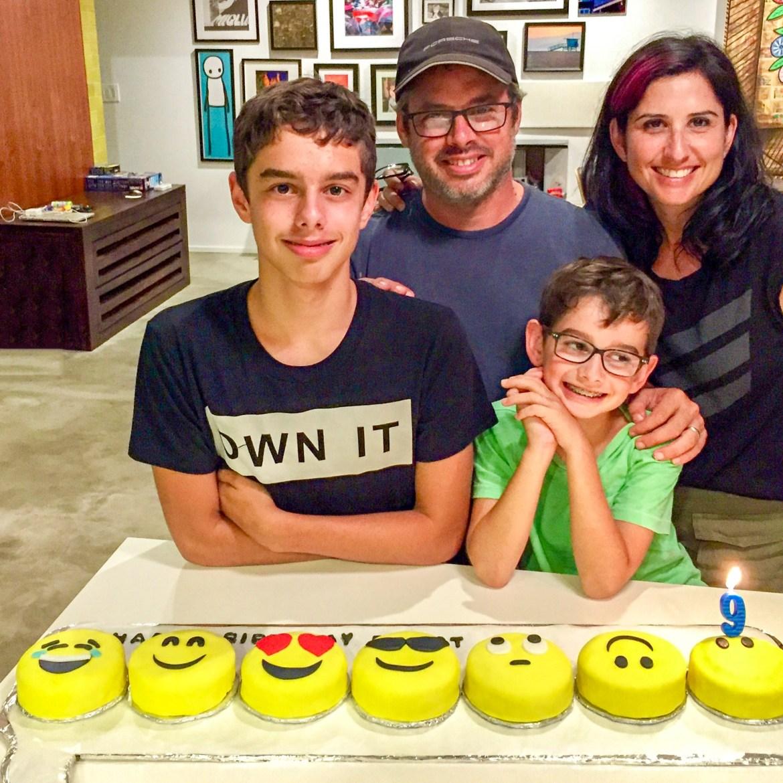 Mini Emoji Birthday Cakes
