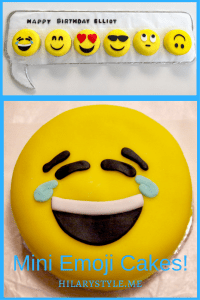 Mini Emoji Brithday Cakes