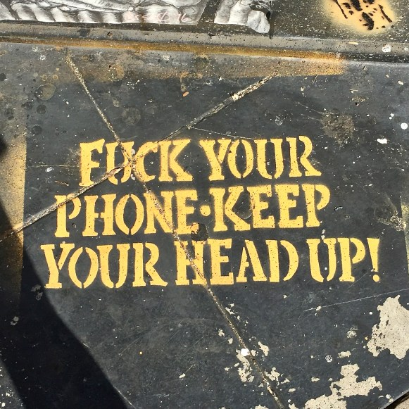 Street art Sidewalk sayings LosAngeles California