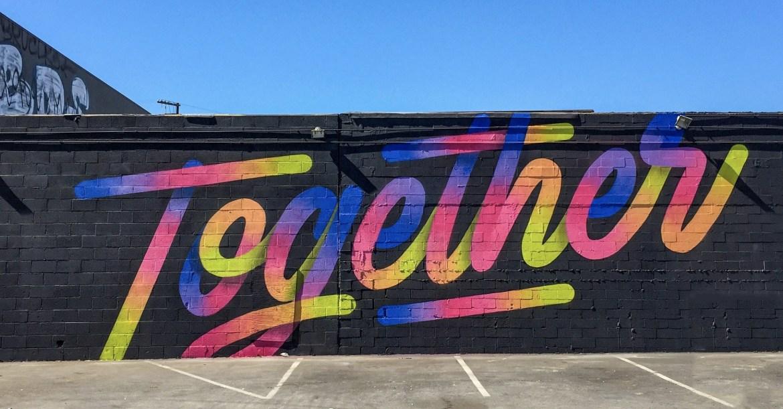 Its A LivingTogether Mural DTLA Los Angeles California
