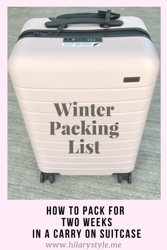 Winter Packing List In A Carryon Suitcase