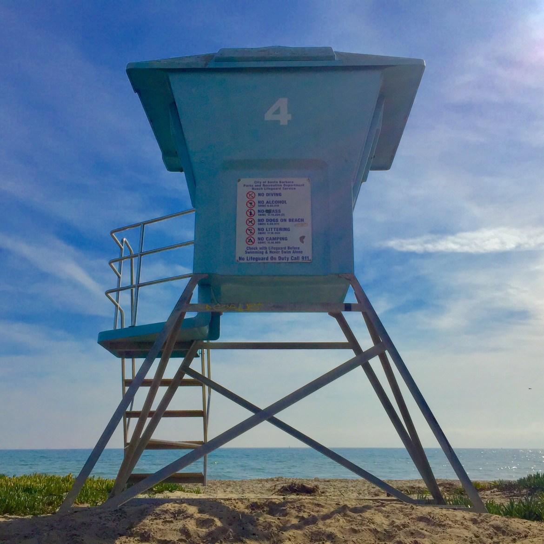 Lifeguard Tower Santa Barbara California