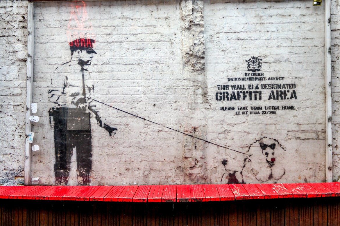 #banksy Shoreditch Street Art London