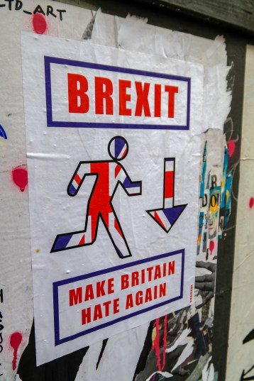 Shoreditch Street Art London #brexitpasteup
