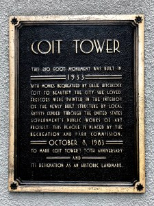 View from Coit Tower San Francisco California