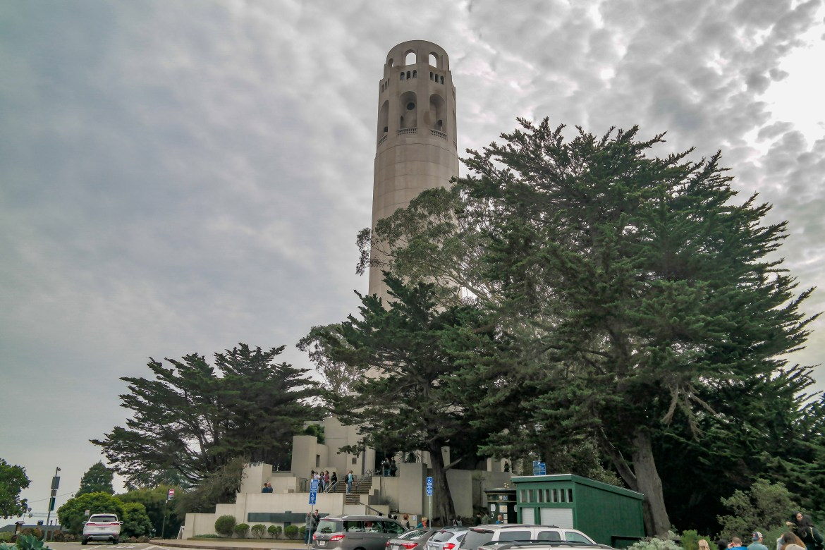 View of Coit Tower San Francisco California