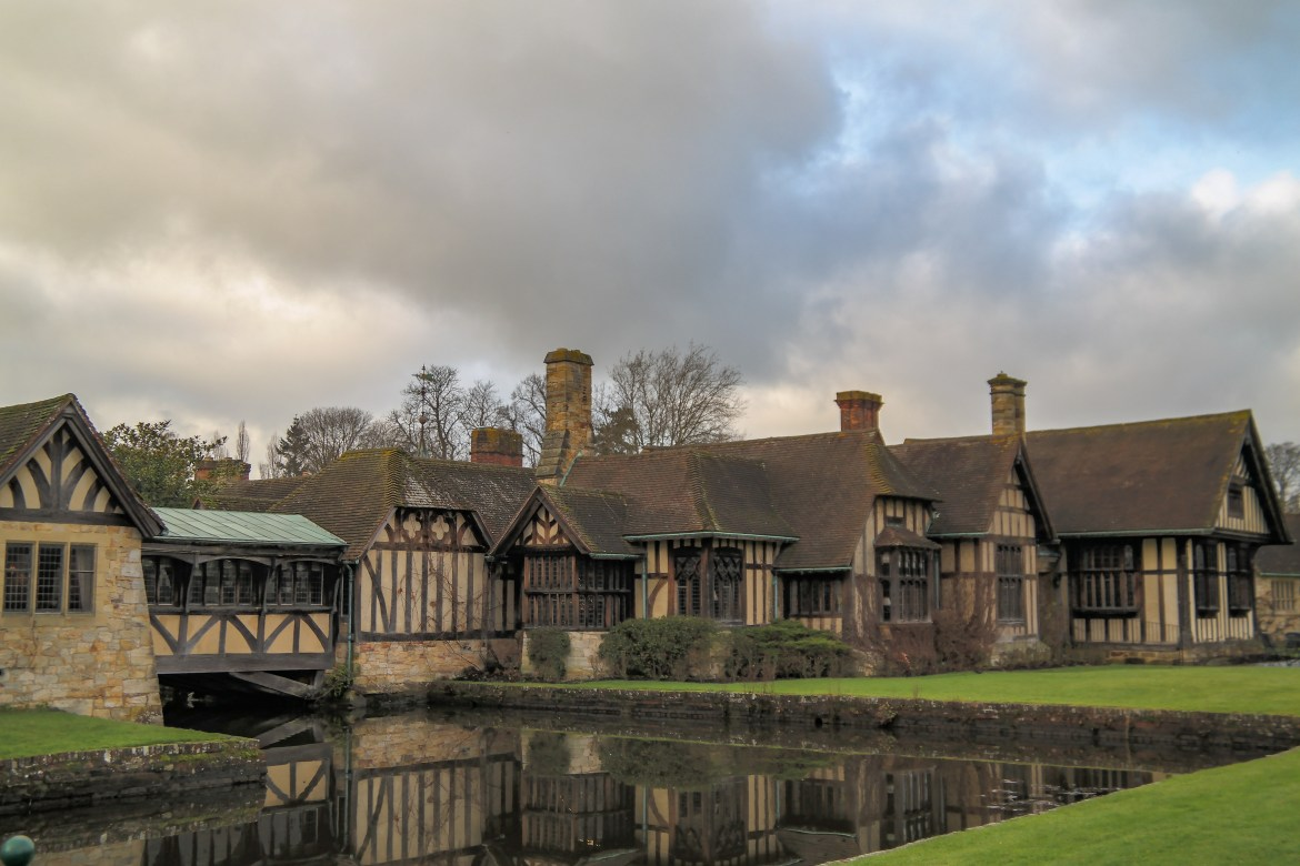 Hever Castle Tudor Village Kent England United Kingdom