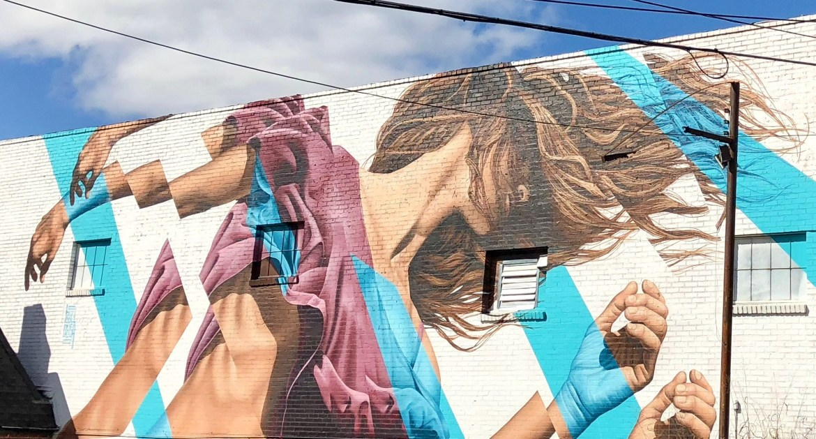 #jamesbullough Street art on The BeltLine Atlanta Georgia