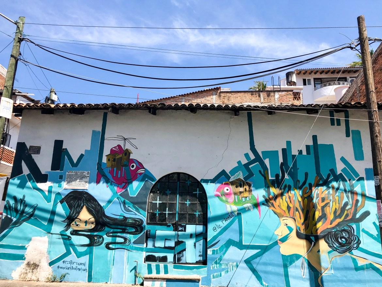 Old Town Puerto Vallarta Mexico Street Art